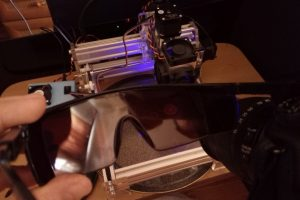 Focus your laser with mirror camera 2 pair of goggles and laser actuator