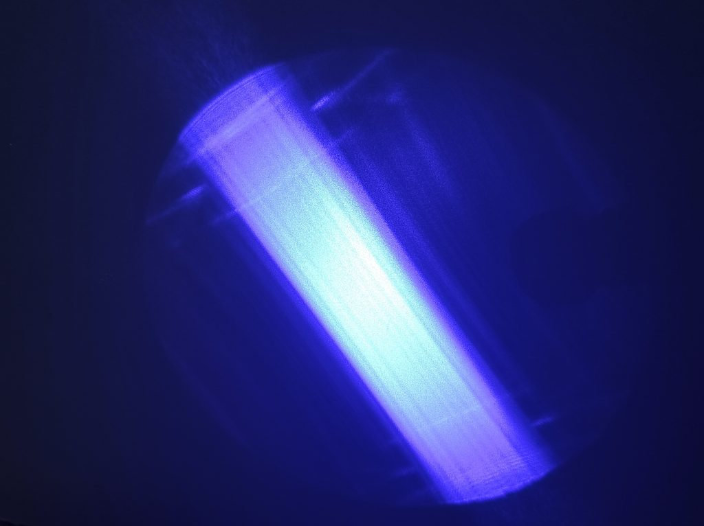 Laser beam from a laser diode (unfocused) - 50% power