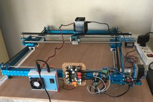 Makeblock XY plotter with the laser