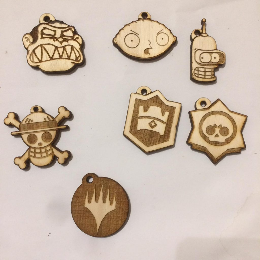 badges and keychains