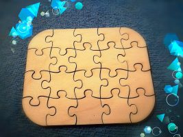 puzzle made of wood