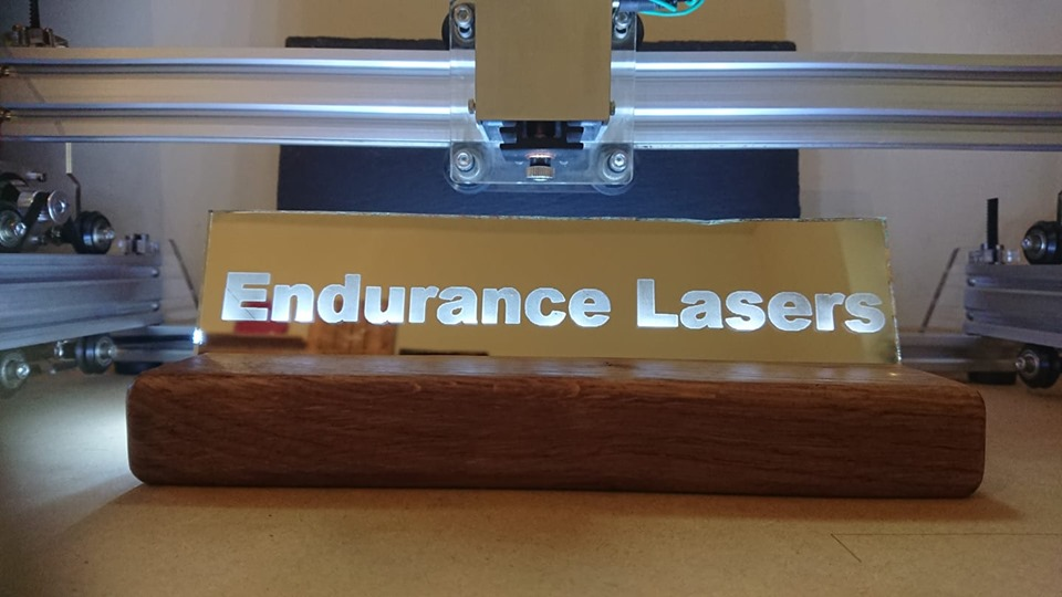 Engraving Mirrors with the diode laser