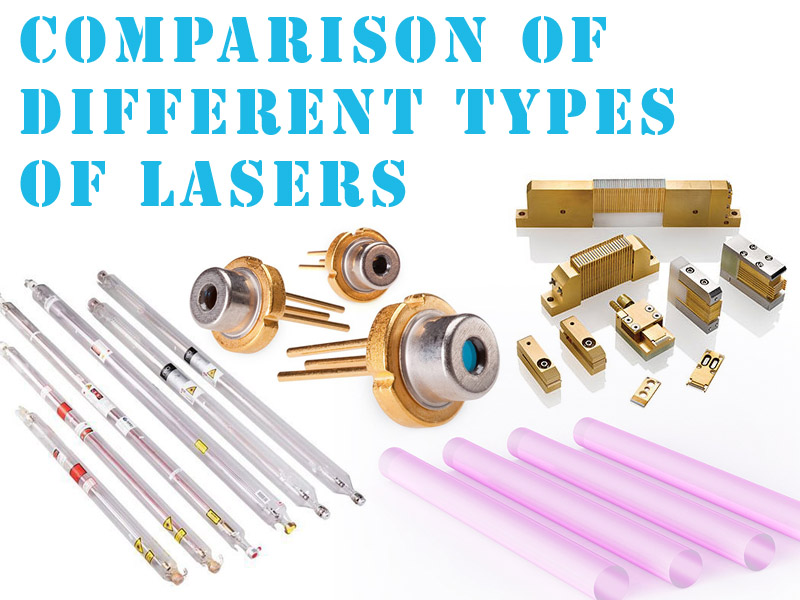 Comparison of different types of lasers