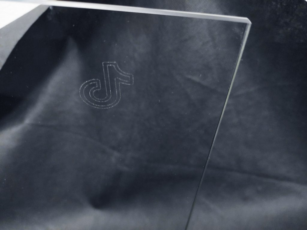 Laser glass etching