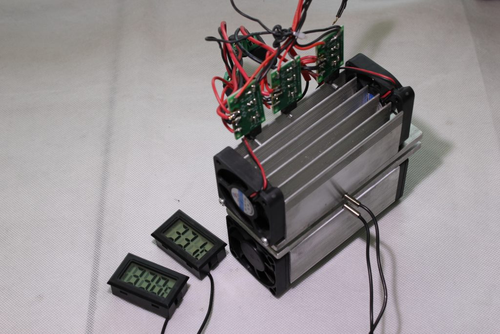 TEC cooling plates testing with a PWM