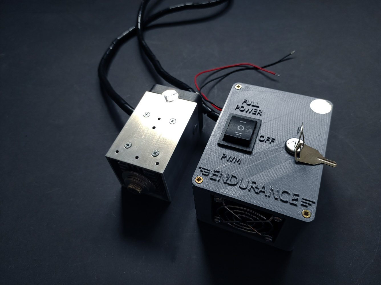 """The Endurance 10 Watt (10000 mW) laser """"Invincible"""" module (add-on) with 445 nm wavelength for any 3D printer / CNC machine"""