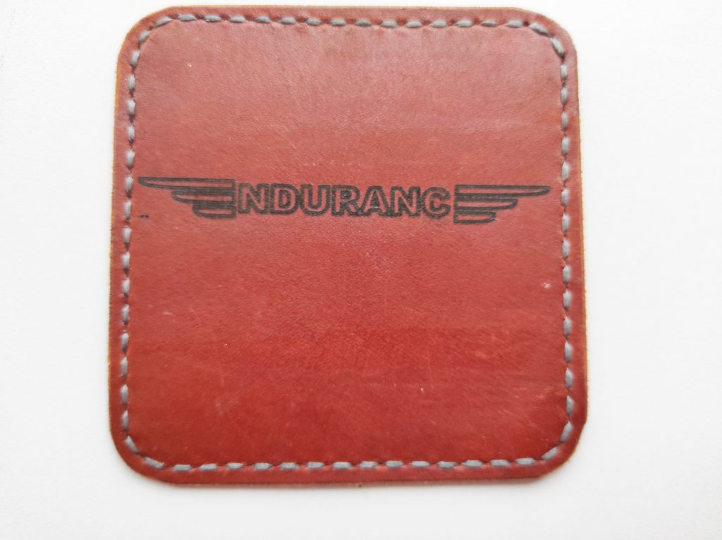 Leather engraved