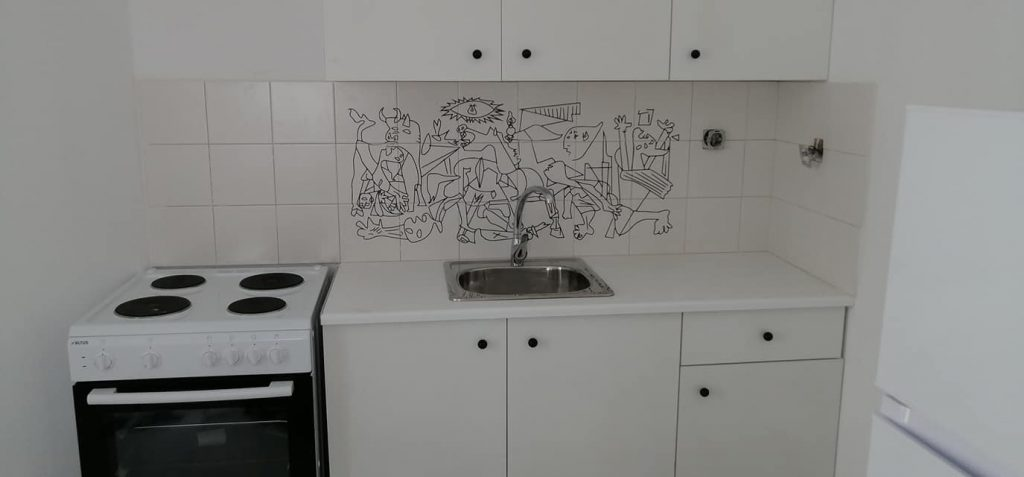 A tile engraving. Make your kitchen something special!