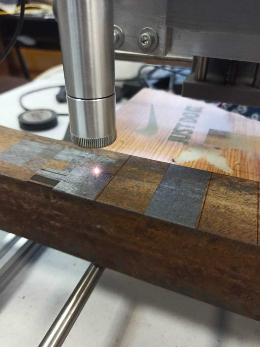 Laser rust removal process
