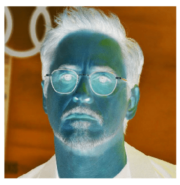 Robert Downey Jr inverted picture