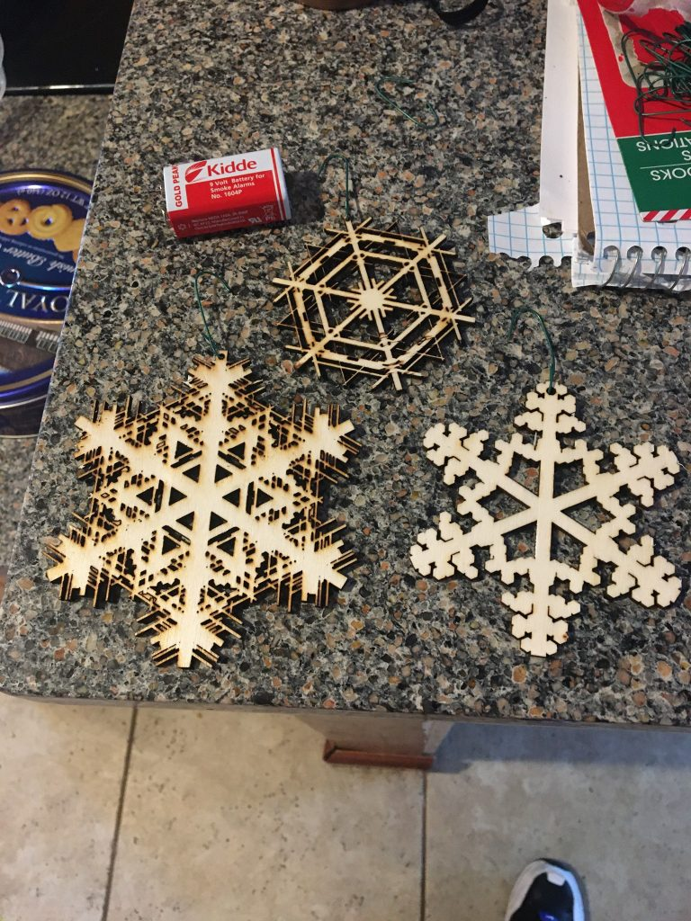Procedurally generated snowflakes