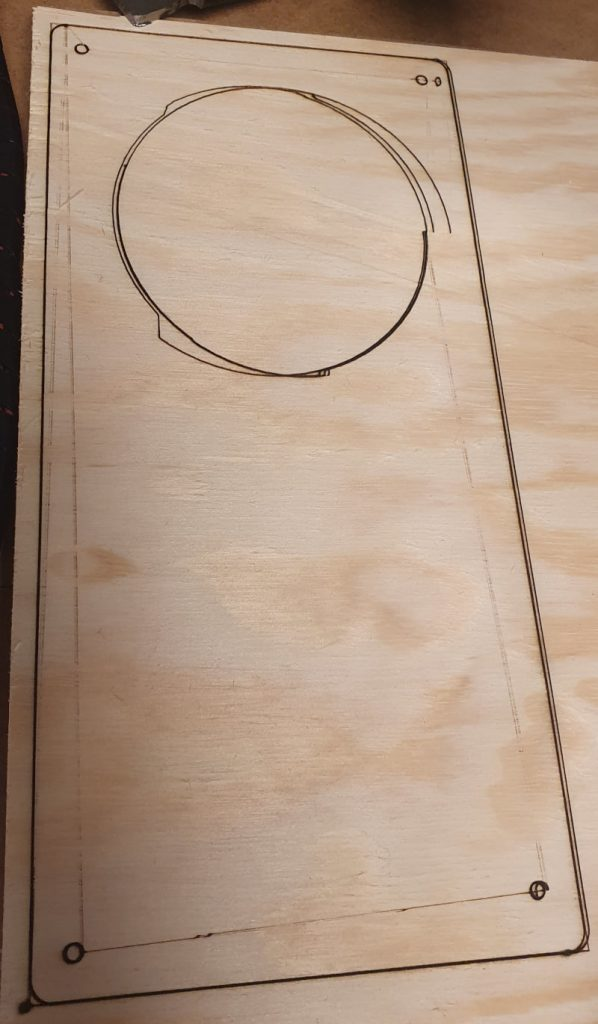 First attempt cutting 4mm pine plywood