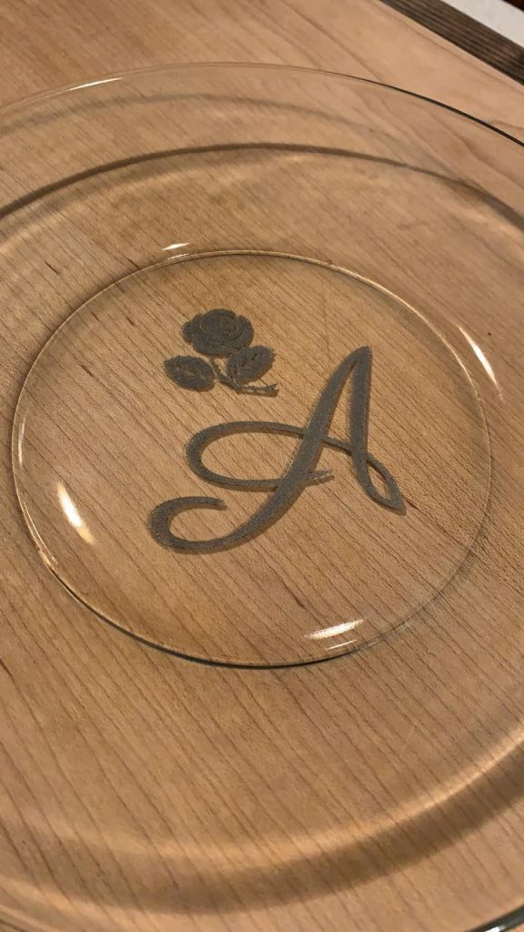 Successful laser engraving on glass using my 5