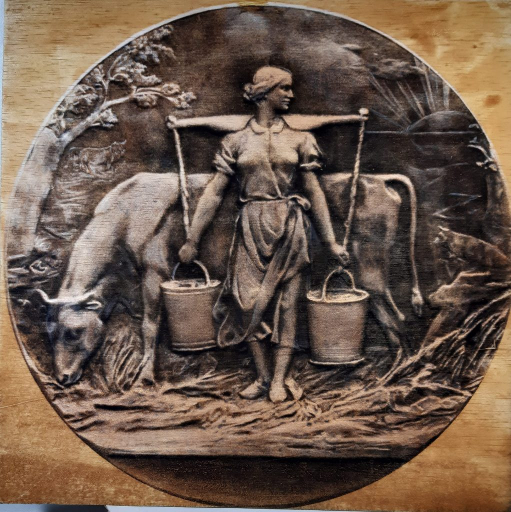 The milkmaid's day starts well before dawn, to ensure that the milk doesn't spoil in the heat of the day, and by the time the sun raises itself languidly above the dark horizon she is finished and on her way to the next task of the day