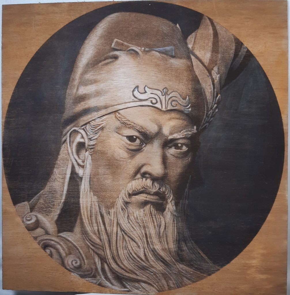 Guan Gong is looking very serious
