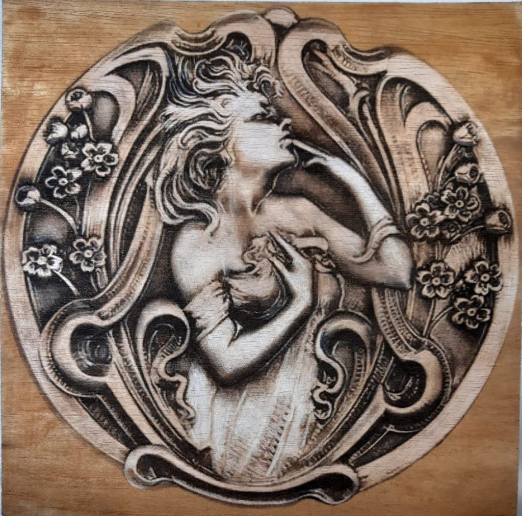 The nymphs were spirits of nature that inhabited the woods and forests and rivers, and always appeared as beautiful maidens