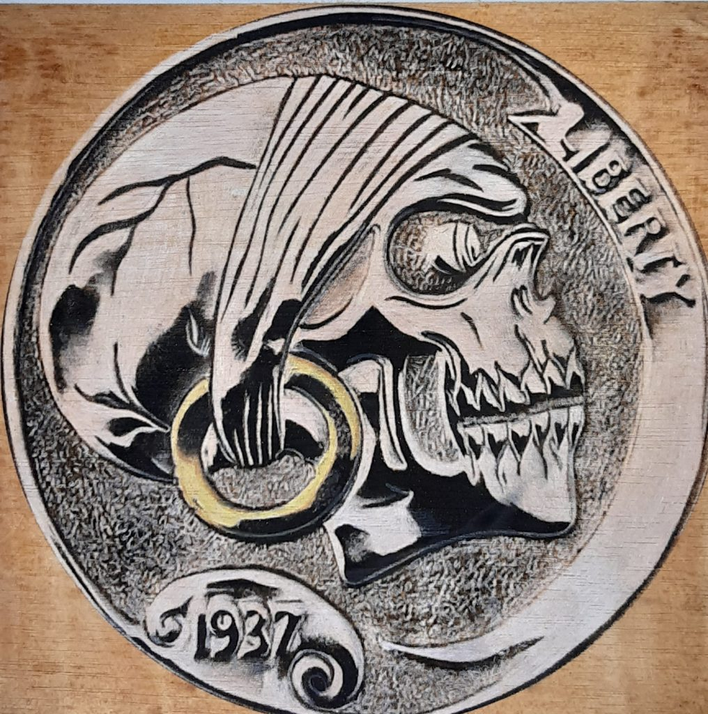 The hobo nickel is a sculptural art form involving the creative modification of small-denomination coins, essentially resulting in miniature bas reliefs