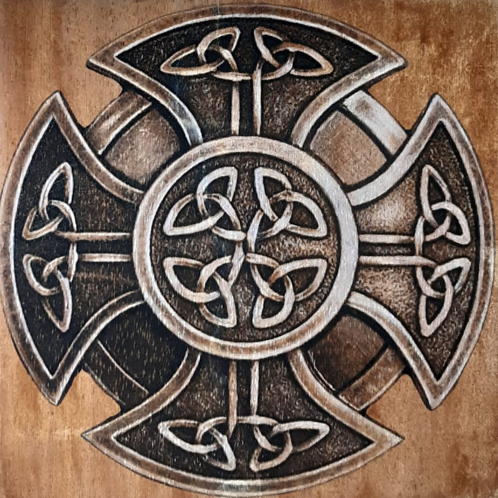 The Celtic cross is a form of Christian cross featuring a nimbus or ring that emerged in Ireland, France and Britain in the Early Middle Ages