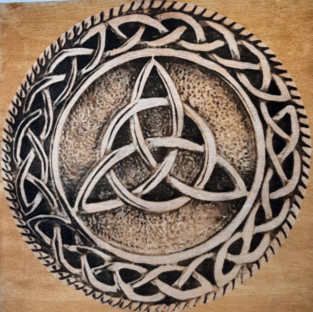 According to archaeologists and scholars, the Celtic Knot or Triquetra is sometimes called the Trinity Knot, and it first appeared as a pagan design used by Celts