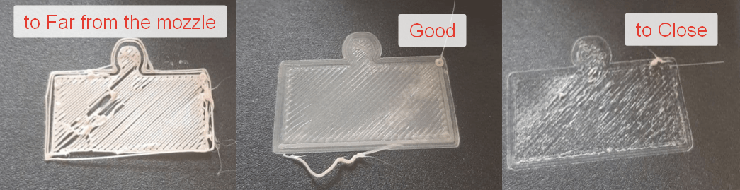 An example of how to tell what adjustments to make as the first layer of your print is being laid down