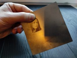 Stainless photo engraving