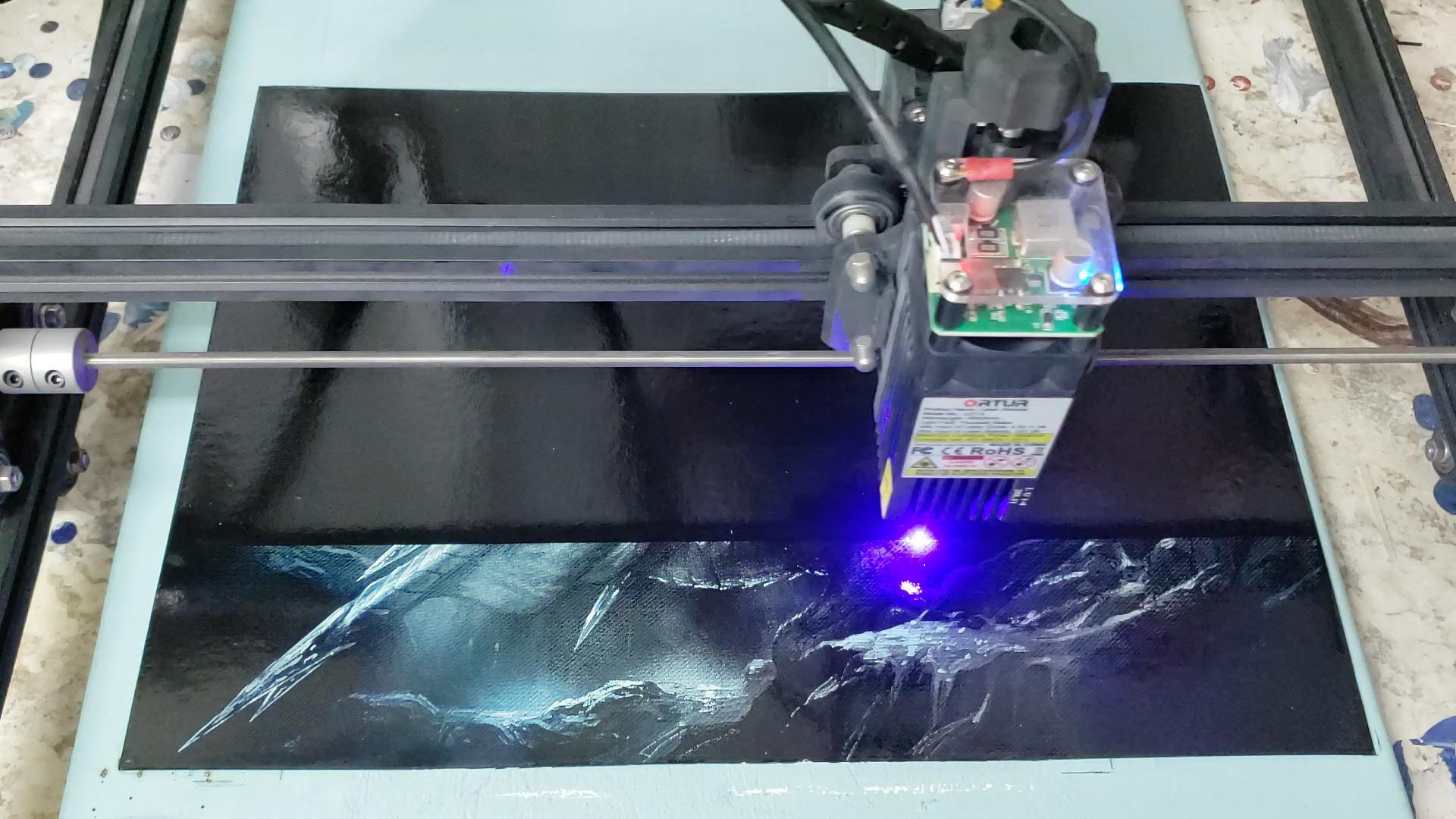paint laser emoval process