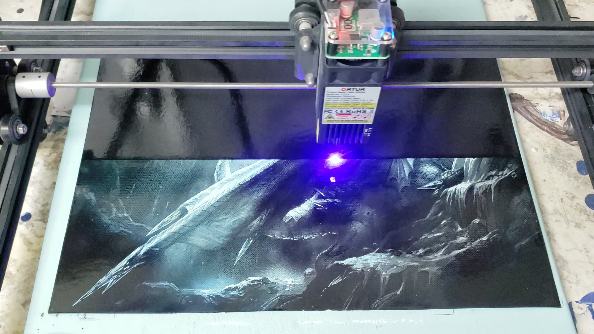 ice dragon paint removal
