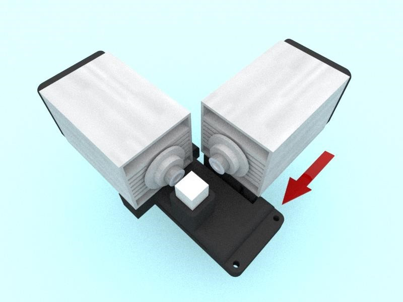 Install the diode, the beam of which passes through the prism without refraction, on the adjustment bracket