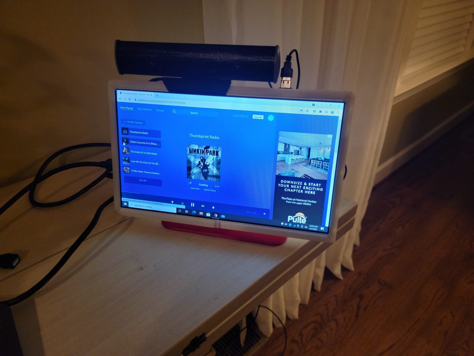 The DIY PC being tested.