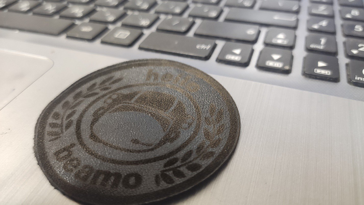 laser leather engraving + cutting